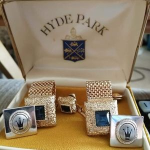 Hyde Park Cuff Links and Tie Tack